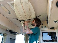 interior surfboard rack for van - Google Search