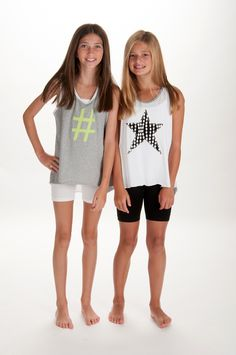 "Of their signature jersey wrap-dresses, tanks and shorts, designers Dayna Cohen and Michele Polo at Hudson Threads, say, ""Our super soft, cozy fabrics for the modern tween girl are custom printed with contemporary designs that have a retro-aesthetic feeling."" www.hudsonthreads.com (designer's preview)"