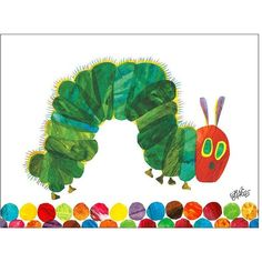 Universal Lighting and Decor Eric Carle's The Very Hungry Caterpillar... (5,530 PHP) ❤ liked on Polyvore featuring home, home decor, wall art, green, green home decor, universal lighting and decor and green wall art