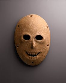 The oldest mask in the world, literally (dating from the Neolithic era, 7000BC).