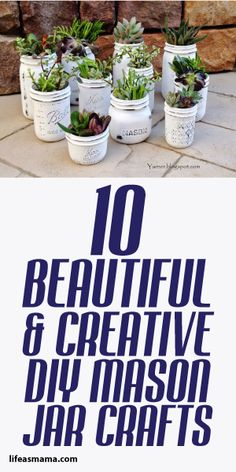 10 Beautiful Creative DIY Mason Jar Crafts
