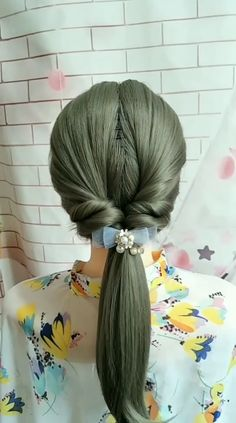 Cute Simple Hairstyles, Work Hairstyles, Easy Hairstyles For Long Hair, Pretty Hairstyles, Braided Hairstyles, Front Hair Styles, Medium Hair Styles, Tween Hairstyles For Girls, Hair Style Vedio