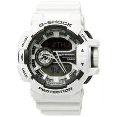 Casio G-Shock GA-400-7A Crazy Colour Watch (White)