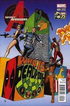 Secret Avengers #9 - Deadpool variant cover by Adi Granov *