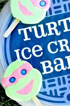 Retro Surfing Ninja Turtle Themed End of Summer Party with Radical Ideas via Kara's Party Ideas | KarasPartyIdeas.com #TMNT #Cowabunga #NijaTurtles #PizzaParty #Party #Ideas #Supplies (43) | Kara's Party Ideas