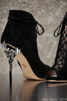 Brilliant Luxury by Emmy DE♦Ralph & Russo Eden Open Toe Ankle Boot AW 2016/17