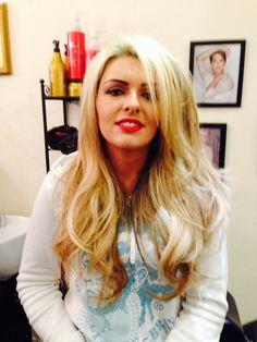Hair  by Miss Barton's salon  #glasgow #westend #hairupdo #hair #colour #prom #bridal #bigbouncyblowdry #blowout #curly
