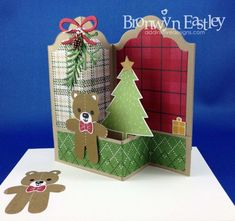 Creative Crew Step It Up Challenge - Labels Double Z-Fold Box Card
