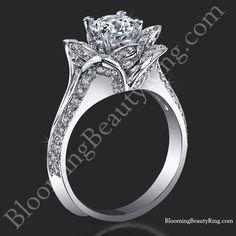 http://www.bloomingbeautyring.com/lotus-engagement-rings-collection/lotus-ring-8-petal-100-ct-diamond-band-flower-ring-bbr588/ Just $2999 #CenterDiamond NOT INCLUDED #LotusFlowerRing 1.0 carat total weight #DifferentRingStyles