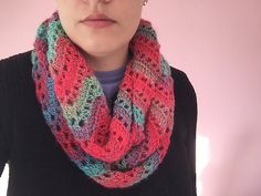 Ravelry: tammyari's Chevron lace infinity scarf // ravelry project by Tamara kelly. See her project notes and yarn