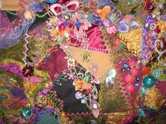 I ❤ crazy quilting & ribbon embroidery . . . Beautiful work in progress: Victorian Enchantment May 2008 ~By bjsewkrazzy4you