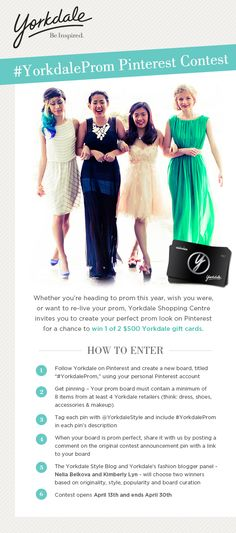 #YorkdaleProm Pinterest Contest has launched and I'm on the fashion blogger panel. Can't want to see the entries!