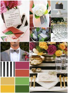 Spectacular Stripe Wedding