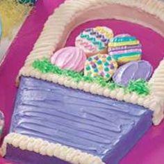 Baker's Coconut Easter Basket Cut Up Cake » Junkyard Clubhouse Cake ...