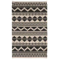 Surya Frontier Territory Feather Gray/Black Hand Woven Rug @Zinc_Door