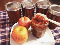 Spicy Apple Butter Recipe! #apple #recipes
