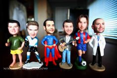 "Groomsmen gifts, custom bobble heads with your groomsmen""s faces 