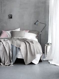Toned Down- love the blanket layers and textures