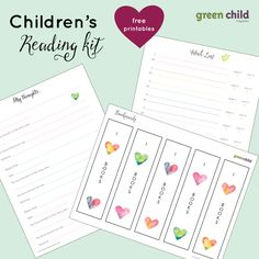 Children's Reading Kit - Free Printable includes Bookmarks, a Book Wish List, and a page for you to help your child explore his or her thoughts on the book they just read.