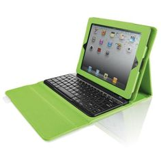 Brookstone Bluetooth Keyboard with Tech-Grip Case for iPad Tablets, Green