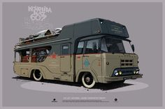 "KAZ ""Kolkhida"" racing transporter, Andrey Tkachenko on ArtStation at https://www.artstation.com/artwork/kaz-kolkhida-racing-transporter"
