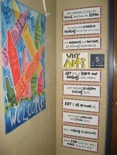 Math elementary art classroom decor, elementary a. Art Classroom Posters, Art Classroom Decor, Art Room Posters, Art Classroom Management, Classroom Setup, Classroom Organization, Classroom Signs, Classroom Procedures, Future Classroom