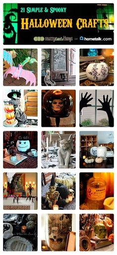 21 Simple & Spooky DIY Halloween Crafts (a round up by SnazzyLittleThings.com and Hometalk.com)