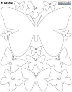 White Butterly Wall Stickers - this would be easier than cutting a bunch of butterflies out and then ironing them on the wall.  We could do 2 pkgs.: