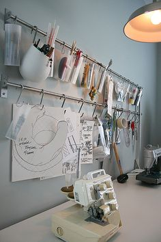 Cute way to organize craft supplies.