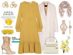Sarı Tesettür Giyim Kombinleri 2017