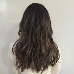 From black to a natural brunette by (at Ramirez Tran Salon) Brown Hair Balayage, Hair Highlights, Bayalage, Long Wavy Hair, Dark Hair, Brunette Aesthetic, Natural Hair Styles, Long Hair Styles, Brunette Hair