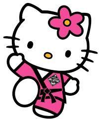 Hello kitty does jiu jitsu!!!! This is so adorable!!!!!