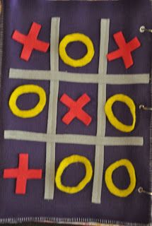 Naughts & crosses -  Quiet Book Pages