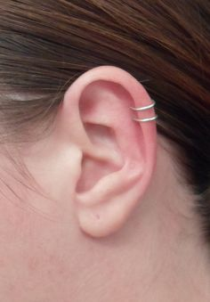 Double loop Ear cuff Sterling Silver OR Gold filled von alufolie, $14.00