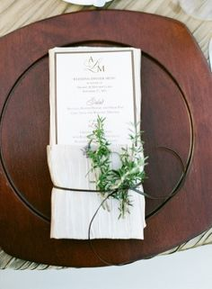 Herb Place Setting Accent. My mom could so do this!