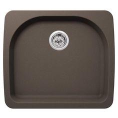 "Miseno MGR2522 Carolina 25"" Single Basin Drop In or Undermount Granite Composite B"