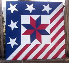 Barn Quilt Patriotic Star Of Lemoyne Barn Quilt Patterns Ohio Star Barn Quilt Patterns Fabric Barn Quilt Patterns Kansas Flag Quilt, Patriotic Quilts, Star Quilts, Quilt Blocks, Barn Quilt Designs, Barn Quilt Patterns, Quilting Designs, American Barn, American Quilt