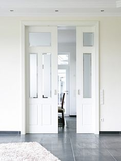 The best selection of pre finished internal doors in the UK. Quality fully finished white internal doors with glazing and double doors. Internal Sliding Doors, Sliding Pocket Doors, Internal French Doors, Internal Glazed Double Doors, French Doors With Screens, Windows And Doors, Interior Pocket Doors, Bifold Interior Doors, Pocket Door Handles