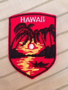 Hawaii Vintage Travel Patch by Voyager by HeydayRetroMart on Etsy, $8.00