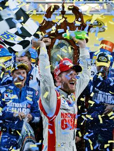 Earnhardt wins at Martinsville Speedway  4th win for JR this year  OCT 24 2014  and 1st win at the track DALE FINALLY HAS A grandfather clock to take home