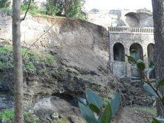 Ennesima frana a Pompei: crolla il giardino di Severus