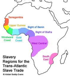 Slavery Regions for the Trans-Atlantic Slave Trade