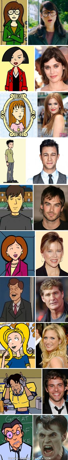 Live Action Daria: Fantasy Cast #mtv  |  http://crappy-candle.tumblr.com/post/56441277092/live-action-daria-movie-fantasy-casting