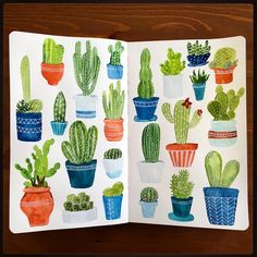 """Cactus • #cbdrawaday • Day 21 This one was fun. #creativebug #lisacongdon…"