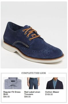 A classic for dad, the 'Boat Ox' Wingtip by Sperry, and a suggested outfit to pair up with them.