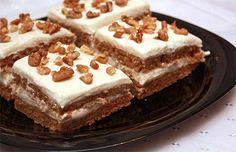 Buckwheat cake with cream cheese