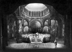 """"""" Parsifal """" 1.Aufzug 2.Bild  1930 nach M.Brückner  Bühnenphoto"""