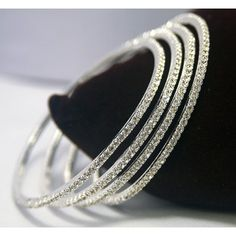 Diamond Bangle Bracelet in White Gold Diamond Bracelets, Gold Bangles, Diamond Jewelry, Bangle Bracelets, Bridal Bangles, Sea Glass Jewelry, Crystal Jewelry, Fine Jewelry, The Bling Ring