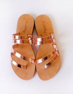 Dhalia Sandals |Metallics|