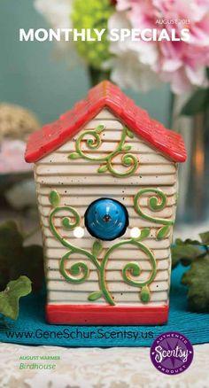 Scentsy's August Warmer, Birdhouse https://susanlassiter.scentsy.us